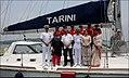 INSV Tarini crew with Defence Minister Nirmala Sitharaman, Goa CM Manohar Parikkar, CNS Adm. Sunil Lanba and Vice Adm. AR Karve.jpg