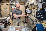 ISS-57 Alexander Gerst in the galley inside the Zvezda Service Module.jpg