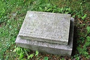 Annie Adams Fields - Mount Auburn Cemetery, Cambridge, MA