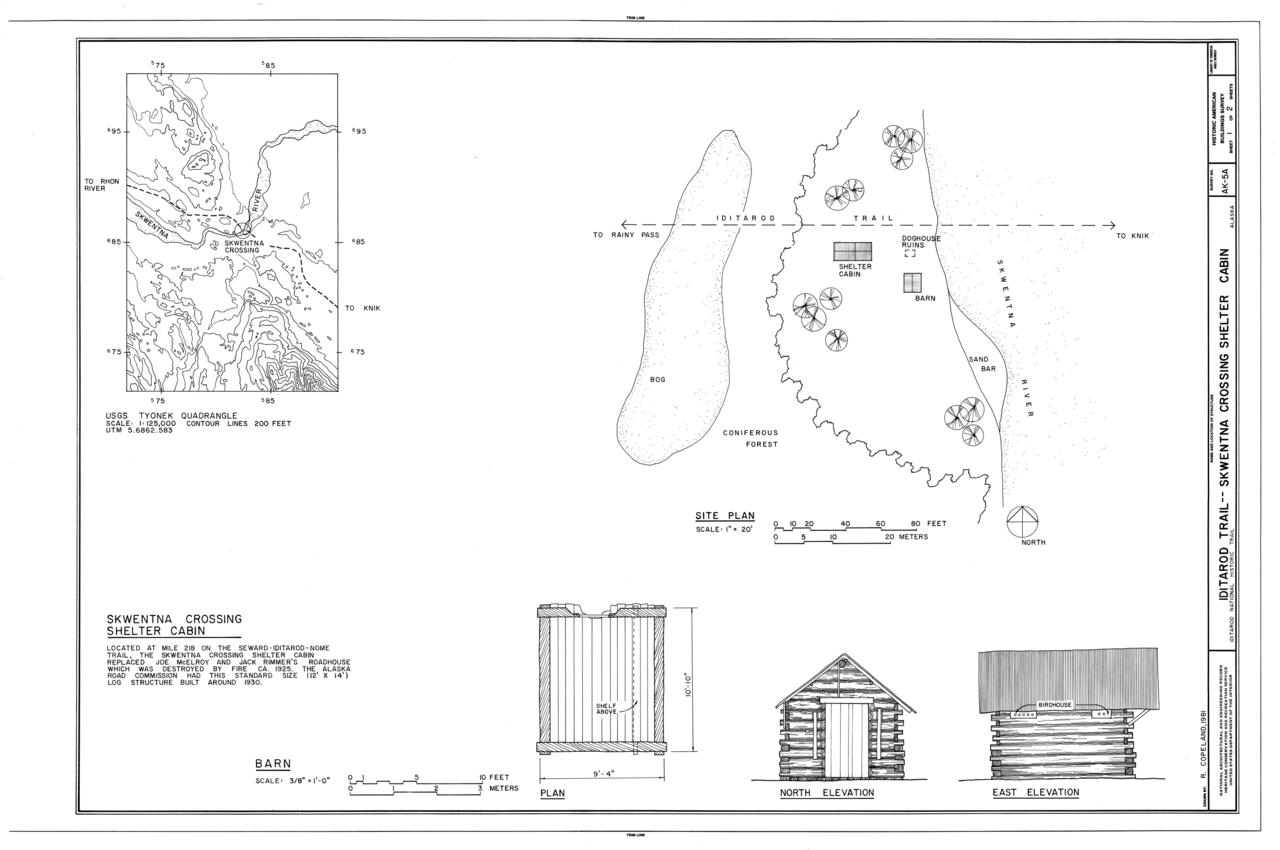 Alaska matanuska susitna county skwentna - File Iditarod Trail Shelter Cabins Skwentna Crossing Shelter Cabin Skwentna Matanuska Susitna Borough Ak Habs Ak 9 Sew 2 A Sheet 1 Of 2 Png