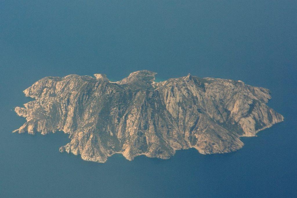 Ile de Montecristo, Italie, vue aérienne