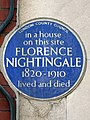 In a house on this site FLORENCE NIGHTINGALE 1820-1910 lived and died (2).jpg