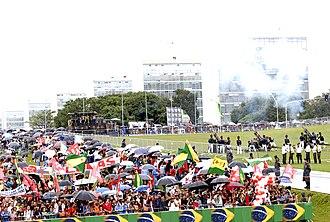 Cayenne Battery - Image: Inauguration ceremony of President Lula