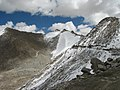 Incredible India, the highest pass in the world. Khardung La pass 5602 m with icey road near Leh Ladakh Jammu and Kashmir - panoramio.jpg