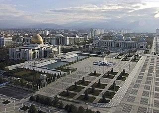 Independence Square, Ashgabat Square in Ashgabat, Turkmenistan