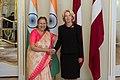 Indijas Republikas parlamenta apakšpalātas priekšsēdētājas oficiālā vizīte Latvijā (41893769835).jpg