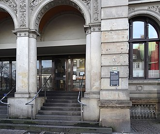 Bremen Main Post Office Building - Image: Infotafel Ehemaliges Hauptpostamt (Lage)