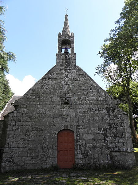 Chapelle de Locmaria, commune d'Inguiniel (56). Façade occidentale.