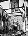 Interieur van de kerk naar het westen na de brand - Haastrecht - 20099487 - RCE.jpg