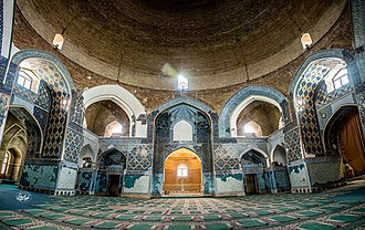 Blue Mosque, Tabriz - interior view of main hall, Blue Mosque, Tabriz, Iran