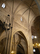 Interior of the Santa María la Real Church Aranda de Duero in Spain.jpeg