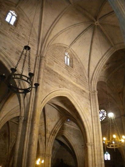 Interior of the Santa María la Real Church Aranda de Duero in Spain.jpeg