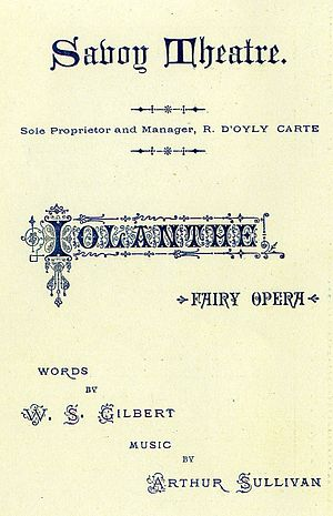 Iolanthe - Programme from 1883 during the original run