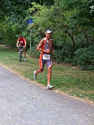 Chris McCormack (triathlete) - Image: Ironman 2008 ffm mccormack 002