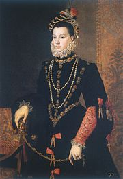 """Elisabeth de Valois, queen of Spain, by Sofonisba Anguissola, 1565. """"How Spanish you have become, my daughter,"""" Catherine told Elisabeth on meeting her in 1565."""