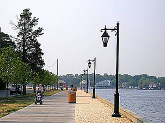 Toms River -  Island Heights boardwalk on the Toms River