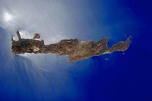 Δορυφορική εικόνα της Κρήτης