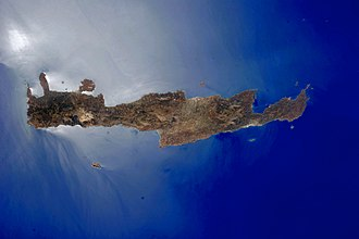 Crete - NASA photograph of Crete