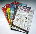 Issues of Fusion magazine.JPG