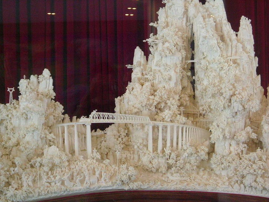 File:Ivory Carving Gift from China, presented to the United ...