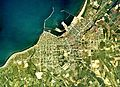 Iwanai town center area Aerial photograph.1976.jpg