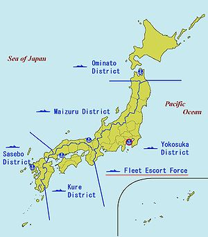 Kyushu - JMSDF District Forces, including the Sasebo District Force