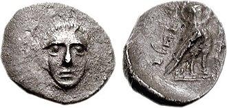 Yehud (Province) - Coin of Hezekiah, Satrap of Judaea, Achaemenid period. Circa 375-333 BCE.