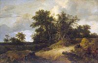 Jacob Isaacksz. van Ruisdael - Landscape with a House in the Grove - WGA20472.jpg