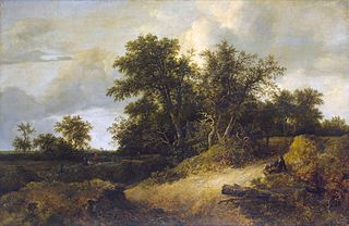 <i>Wooded Dunes</i> painting by Jacob van Ruisdael