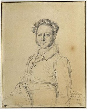 Jacques Ignace Hittorff - Jacques Hittorff; portrait by Ingres.