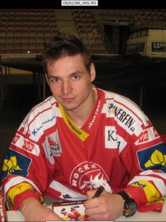 Jakub Orsava Czech ice hockey player