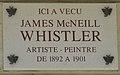 James McNeill Whistler plaque - 110 rue du Bac, Paris 7.jpg