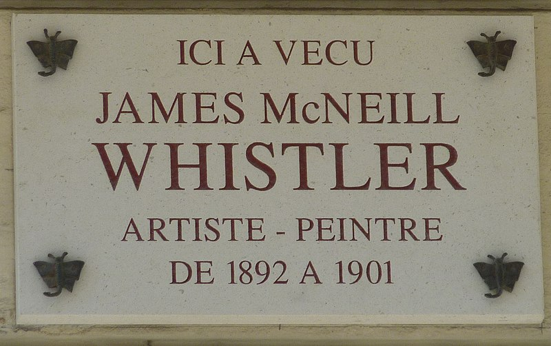 Fichier:James McNeill Whistler plaque - 110 rue du Bac, Paris 7.jpg