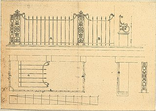 Design for a wrought-iron rood fence