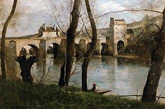 Mantes-la-Jolie - Jean-Baptiste-Camille Corot - Le pont de Mantes