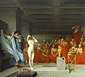 Jean-Léon Gérôme, Phryne revealed before the Areopagus (1861, detail).jpg
