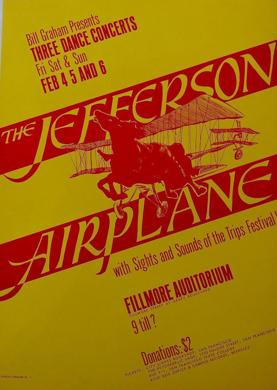 Jefferson airplane fillmore poster 1966