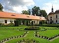 Jemniště Chateau, French garden 2.jpg
