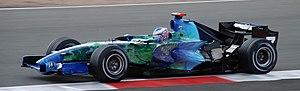 Honda RA107 - Jenson Button driving the RA107 at the 2007 British Grand Prix.