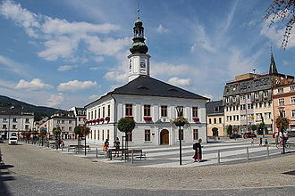 Jeseník - Market place and town hall