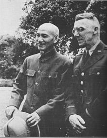 Guerra do pacfico wikipdia a enciclopdia livre o generalssimo chiang kai shek e o general joseph stilwell comandante em chefe das foras aliadas no teatro de operaes da china entre 1942 e 1945 fandeluxe Images