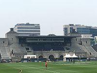Jiangwan Stadium main grandstand.jpg