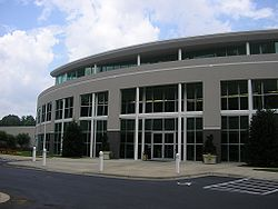 Hauptquartier von Joe Gibbs Racing in Huntersville, North Carolina