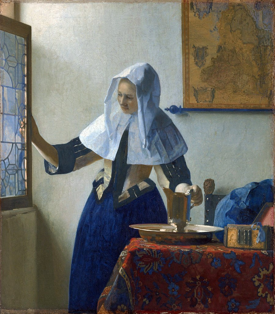 https://upload.wikimedia.org/wikipedia/commons/thumb/0/01/Johannes_Vermeer_%28Dutch%2C_Delft_1632%E2%80%931675_Delft%29_-_Young_Woman_with_a_Water_Pitcher_-_Google_Art_Project.jpg/899px-Johannes_Vermeer_%28Dutch%2C_Delft_1632%E2%80%931675_Delft%29_-_Young_Woman_with_a_Water_Pitcher_-_Google_Art_Project.jpg