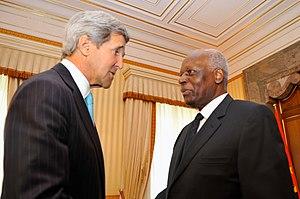 Corruption in Angola - Jose Eduardo dos Santos with John Kerry