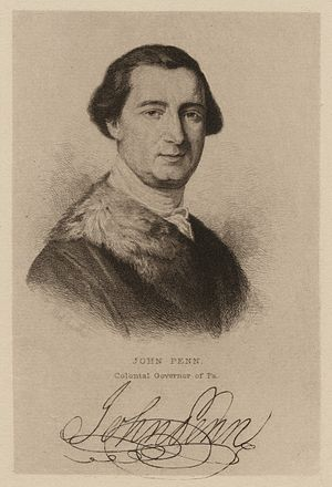 John Penn (governor) - Image: John Penn, colonial governor of Pa (NYPL NYPG94 F42 419831)