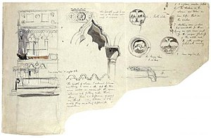 The Stones of Venice (book) - Sketch of an architectural detail made by John Ruskin for The Stones of Venice