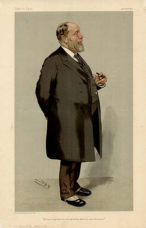 John Wolfe Barry - Wolfe Barry caricatured by Spy for Vanity Fair, 1905