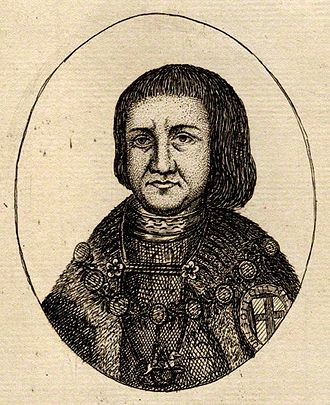 John de Vere, 15th Earl of Oxford - John de Vere, 15th Earl of Oxford, engraving after funerary monument, National Portrait Gallery, London
