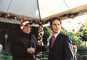 Garry Marshall - Marshall and Jonny Blu on the set of The Princess Diaries 2: Royal Engagement in 2004